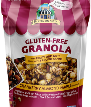 Cranberry Almond Maple flavor Granola Gluten Free - Sleeve of 12 Snack Packs