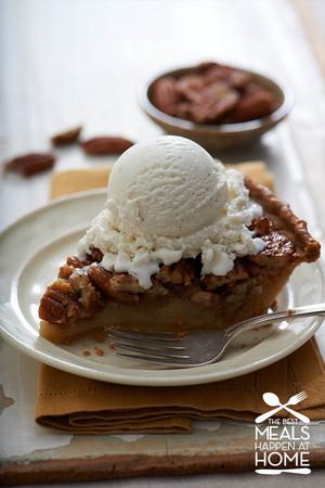Pecan Bourbon Pie A La Mode