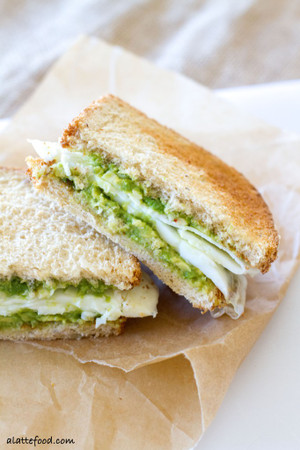 Egg White and Avocado Breakfast Sandwich