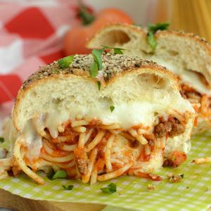 Cheesy Spaghetti Sliders