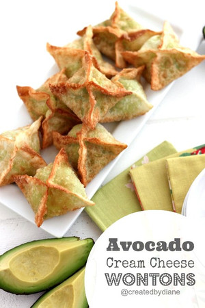 Avocado Cream Cheese Wontons