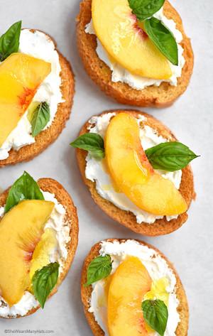 Peach and Goat Cheese Bruschetta