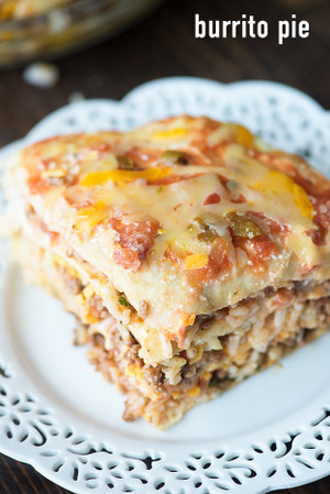 Burrito Pie Lasagna Casserole