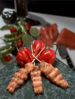 Chili Lime Salmon Satay - 25 pieces per tray (GF)