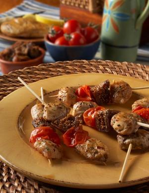 Mediterranean Chicken Kabob (GF) - 25 pieces per tray