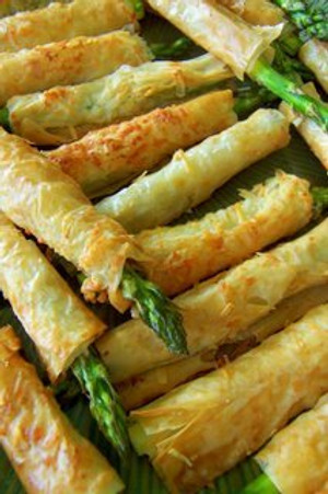 Crispy Asparagus Asiago Spears - 50 pieces per tray
