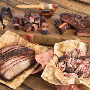 Ribs, Burnt Ends, Sliced Brisket & Pulled Pork – The WHOMP! Platter - Meat Mitch