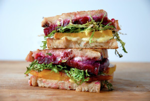Beet Frisee Grilled Cheese Sandwich
