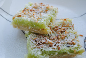 Key Lime Coconut Bars - One Dozen