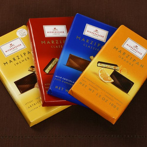 Marzipan Bars by Niederegger - Milk Chocolate, Bittersweet Chocolate, Ginger or Orange