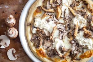 Mushroom Pizza with Truffles