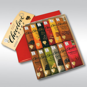 9 Bars of Chocolove xoxox Chocolate Bar Gift Set
