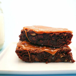 Salted Caramel Brownies  - 1/2 dozen