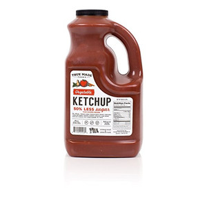 True Made Foods Vegetable Ketchup, Paleo Friendly, Non-GMO, 50% Less Sugar, 128 oz Plastic Jug