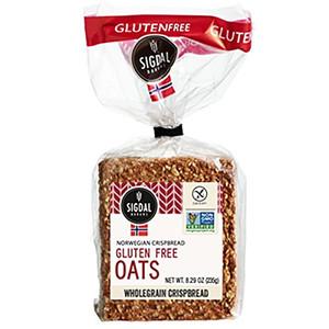 Sigdal Bakeri Gluten Free Oats Wholegrain Crispbread 8.29 oz Bags - Pack of 12