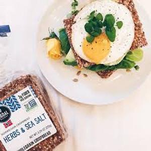 Sigdal Bakeri Herbs & Sea Salt Wholegrain Crispbread 1 bag