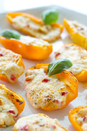 Grilled 3 Cheese Pimento Sweet Pepper Poppers