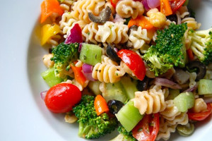 Veggie Pasta Salad with Zesty Italian Dressing