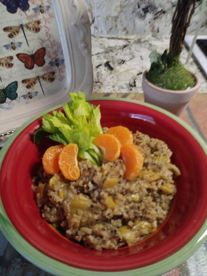Earthy Quinoa with Mushrooms and Onions