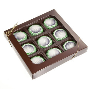 Milk Chocolate Dipped Oreo Cookies Golf Ball Chocolates - pack of 9