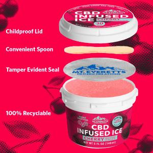 CBD Cherry Ice - Italian Ice - 3, 6, 12 & Case of 36 Available