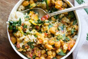Chickpea Curry Veggie Meal