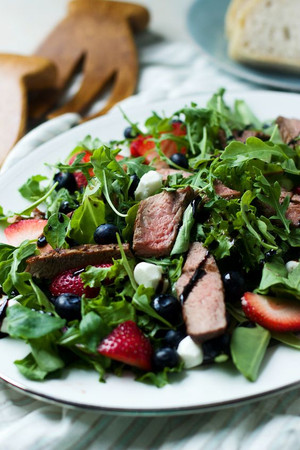Steak Salad with Bluebird Dressing