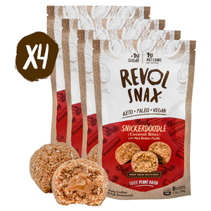 SNICKERDOODLE BITES - 4 Pack Revolv Snax