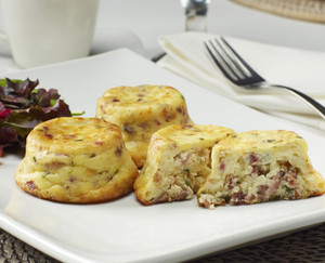 Crustless Quiche: Hardwood Smoked Bacon - includes 60