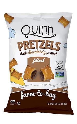 Dark Chocolate'y Peanut Filled Pretzels, 6.5 Ounce - GF, Non GMO - Farm to Bag