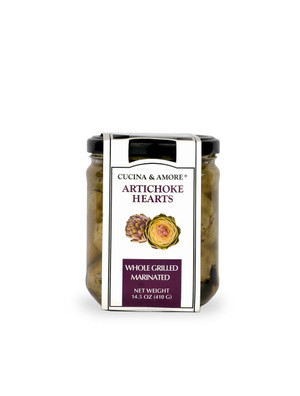 Cucina & Amore  Artichoke Hearts, Grilled & Marinated Whole - 6 Pack