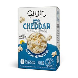 Quinn Snacks Microwave Popcorn - Made with Organic Non-GMO Corn - White Cheddar