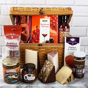 Alcohol Kissed Gourmet Food Gift Basket