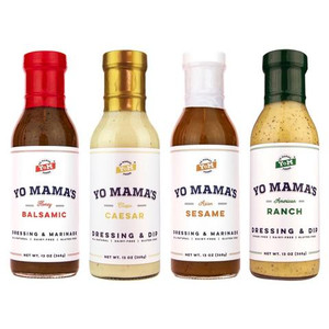 Keto Dressing Collection Yo Mama's Foods  - No Sugar Added, Low Carb, Low Sodium, Gluten Free, Paleo Friendly