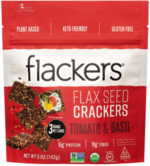 Doctor In The Kitchen, Flackers Organic Flax Seed Crackers, Tomato and Basil Flaxseed, 5 oz