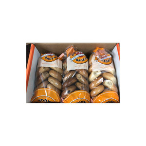 New Yorker Mini Bagels - 72 Kettle-boiled Mini Bagels - select flavors