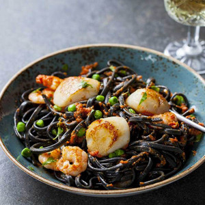 Linguine with Black Squid Ink by Morelli: Organic