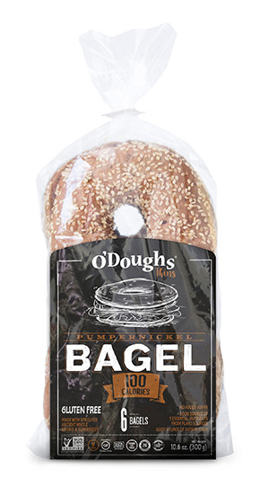 Sprouted Pumpernickel Bagels - Gluten Free - 1 Pack