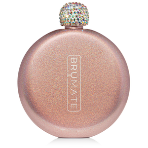 GLITTER FLASK | ROSE GOLD