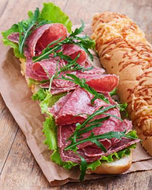 Sliced Fresh Salami - 4 oz - Kosher