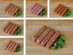 Fresh Sausage Sampler - 6 packs- Kosher