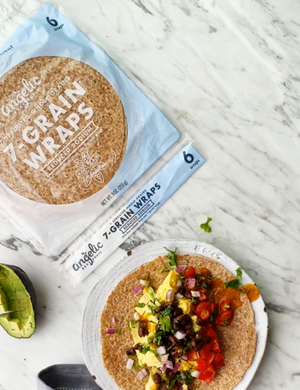 Sprouted Low Sodium Wraps / Tortillas - includes 6