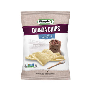 Quinoa Chips, Sea Salt, 0.8 Ounce, Pack of 24 - Gluten Free
