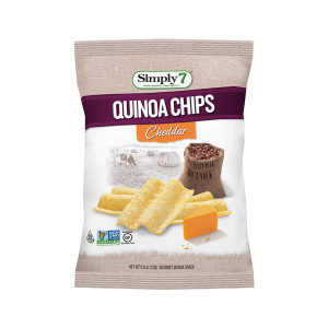 Quinoa Chips, Cheddar, 0.8 Ounce -  Pack of 24 - Gluten Free