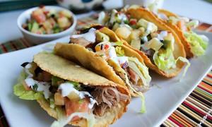 Crispy Duck Confit Tacos with Grapefruit Plum Salsa