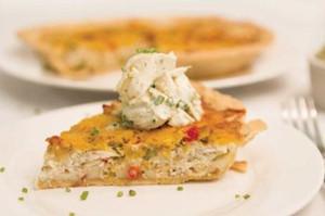 Blue Crab and Tomato Quiche