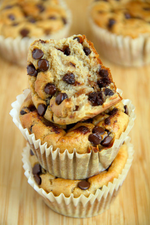 Banana Oat Greek Yogurt Chocolate Chip Muffins