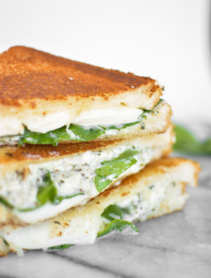 White Garlic Pizza Grilled Cheese