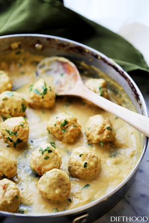 Lightened-Up (Turkey) Swedish Meatballs