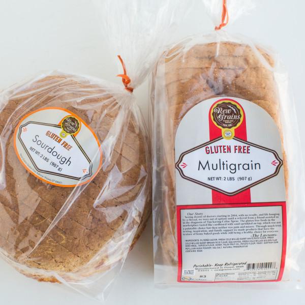 GLUTEN-FREE MULTIGRAIN AND SOURDOUGH BREAD